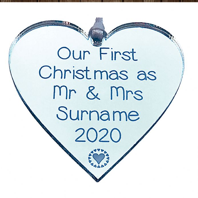 Personalised Heart Our first Christmas